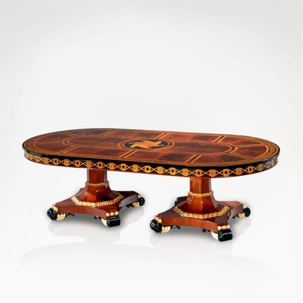 M-1157 Dining Table GRAND-PALACE Oval EPOCA